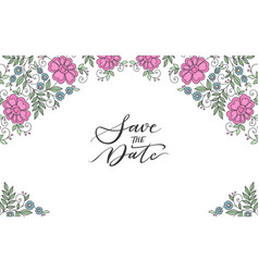 flower design ornament frame vector image