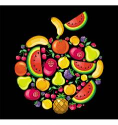 fruit apple vector image