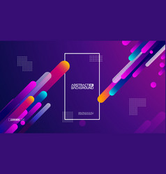 geometric background flat layout template on vector image