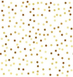 Gold star seamless pattern vector image
