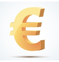 Golden symbol of euro vector