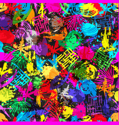 graffiti abstract seamless pattern grunge effect vector image