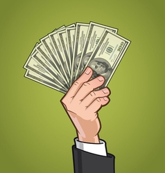 Hands Showing Money 1 vector image