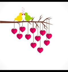 Happy valentine day or loving bird greeting design vector
