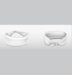 headband bandana for head or wrist white cloth vector image