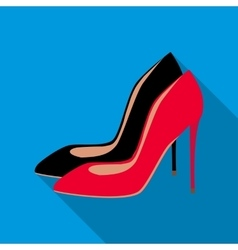 High heel shoes icon flat style vector image