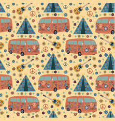 hippie pattern vector image