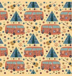 hippie pattern vector image