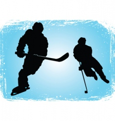 hockey players on the ice vector image