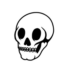 human skull on light background design element vector image