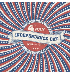 independence day vintage poster vector image