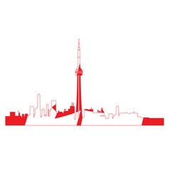 Isolated cityscape of toronto vector