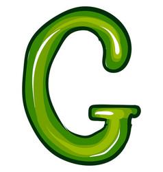 Letter g on white background vector