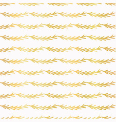 luxe gold christmas tree branch stripes vector image