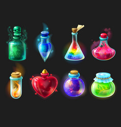 magic potion cartoon game interface elements vector image