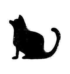 minimalist black silhouette dog or cat icon vector image