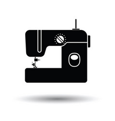 Modern sewing machine icon vector image