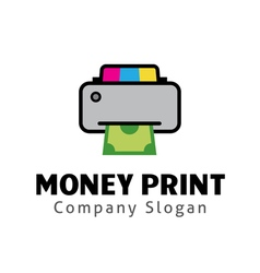 Money Print Design vector image
