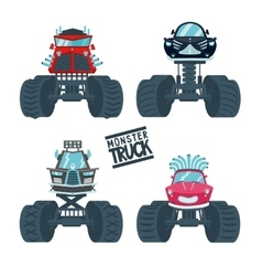 monster truck set vector image