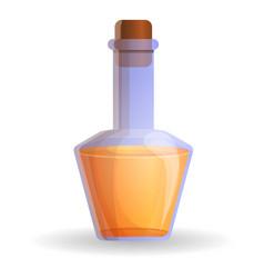 orange potion bottle icon cartoon style vector image