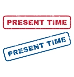 Present time rubber stamps vector