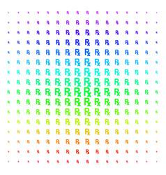 Rx symbol icon halftone spectral grid vector