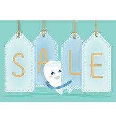 Sale of dental vector image vector image