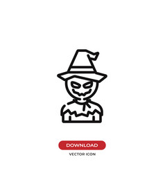 scarecrow icon vector image