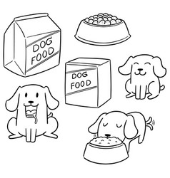 Set of dog food vector