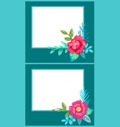 set of postcards with plants vector image