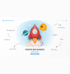 Startup new business site vector