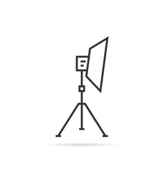 thin line soft box on tripod icon vector image