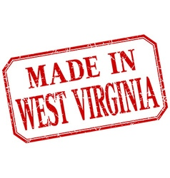 West virginia - made in red vintage isolated label vector