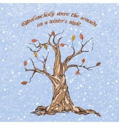 Winter tree poster vector image