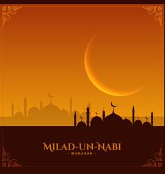 Wishes card for milad un nabi mubarak festival vector