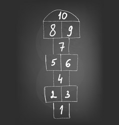 With hopscotch game vector