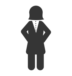 Woman suit business secretary work icon vector