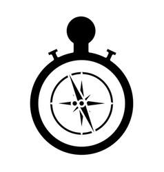 nautical rose navigation vector image