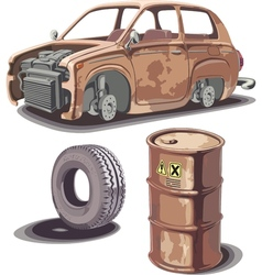 Old and Rusty Stuff vector image vector image
