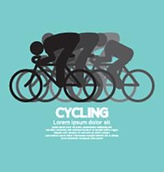 Black Symbol Cycling People vector image