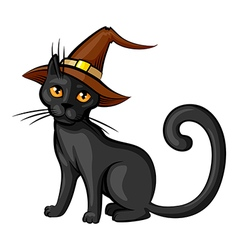 cat contour color vector image vector image