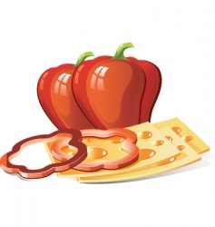 cheese and pepper vector image vector image
