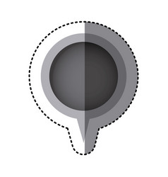 grayscale sticker of circular speech with tail vector image vector image