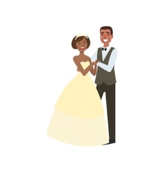 Black Bride And Groom Newlywed Couple In vector image vector image