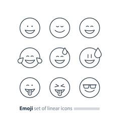 emoji icons emoticon symbols face expression signs vector image vector image