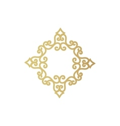 gold geometric figure or vegetable item for vector image vector image