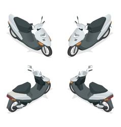 Motorcycle bike motorbike scooter Flat 3d vector image