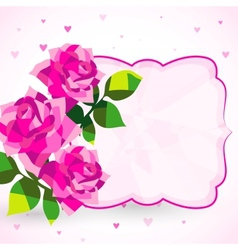 Decorative background or card with roses vector image