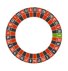 roulette casino wheel template with zero on white vector image