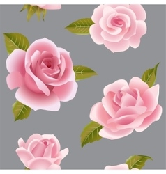 Seamless background with pink roses vector image vector image